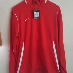 NWT Nike Dri-Fit Red Zip Up XLT Jacket